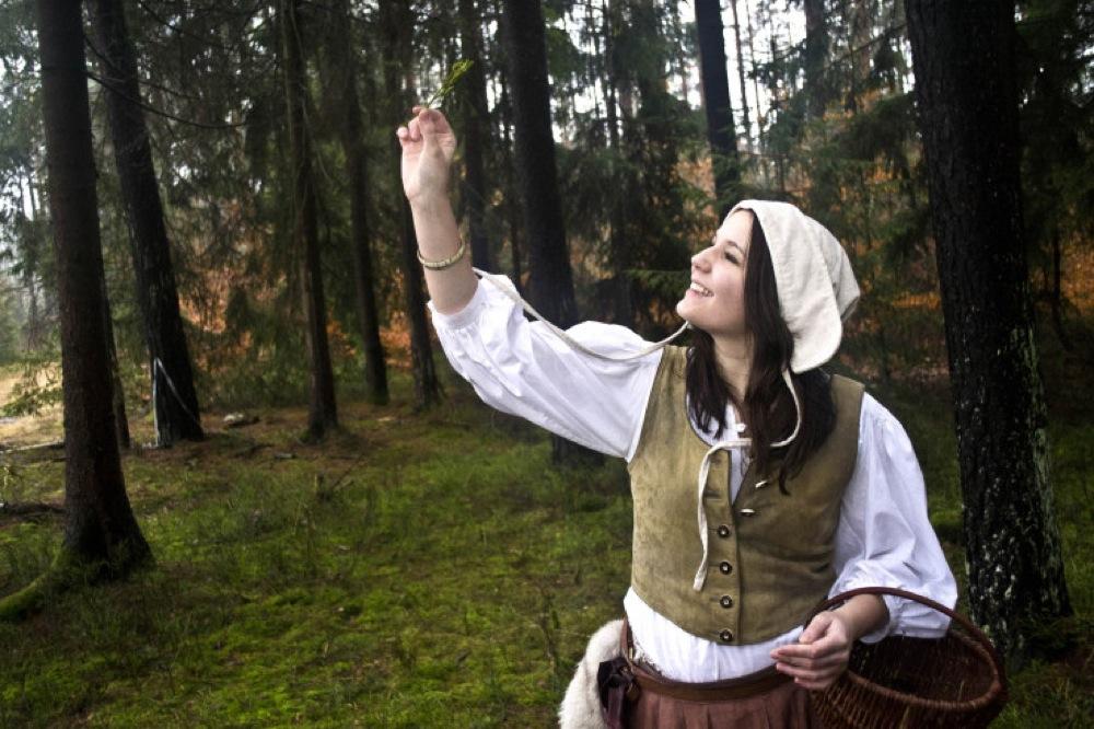 Eine Teilnehmerin an Live-Rollenspielen aus Alinas Gruppe / Foto: Alina Soudet.