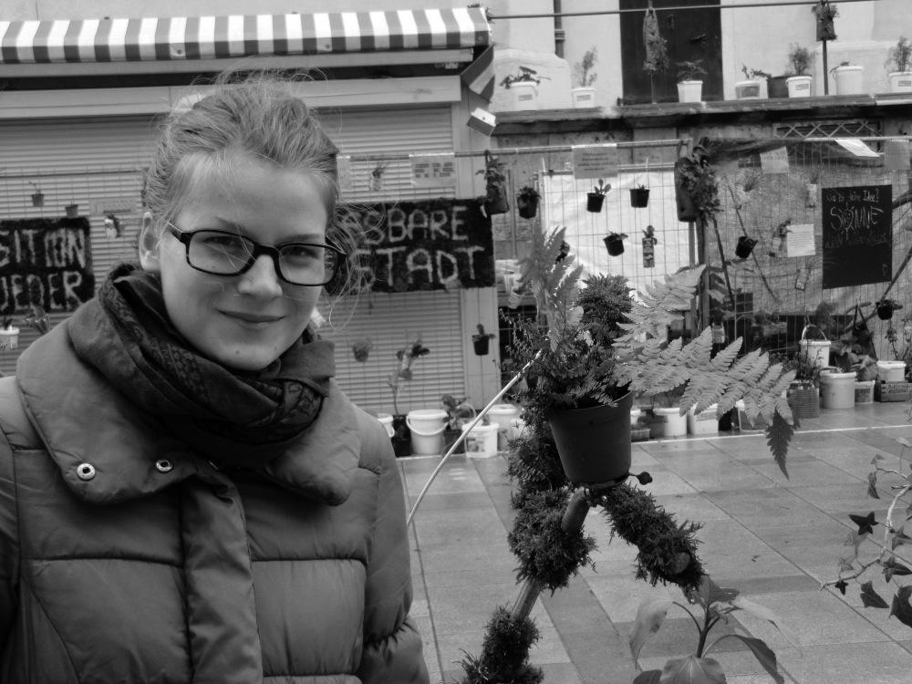 """Carolin """"Bibi"""" Tillmann ist bei Transition Town aktiv. / Foto: Deidenbach."""