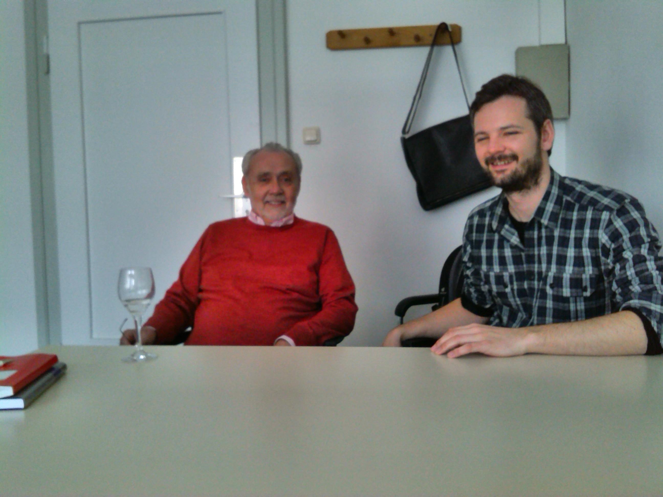 Professor Klaus P. Hansen und sein Mitarbeiter, Dr. Jan-Christoph Marschelke