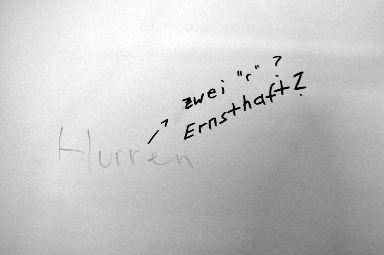 Kreatives Graffiti an der Uni