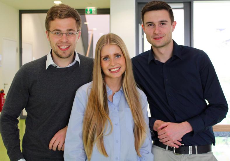 RCDS: (v.l.n.r.) Ludwig Lagleder, Lena van Bracht und Johannes Schlapschy