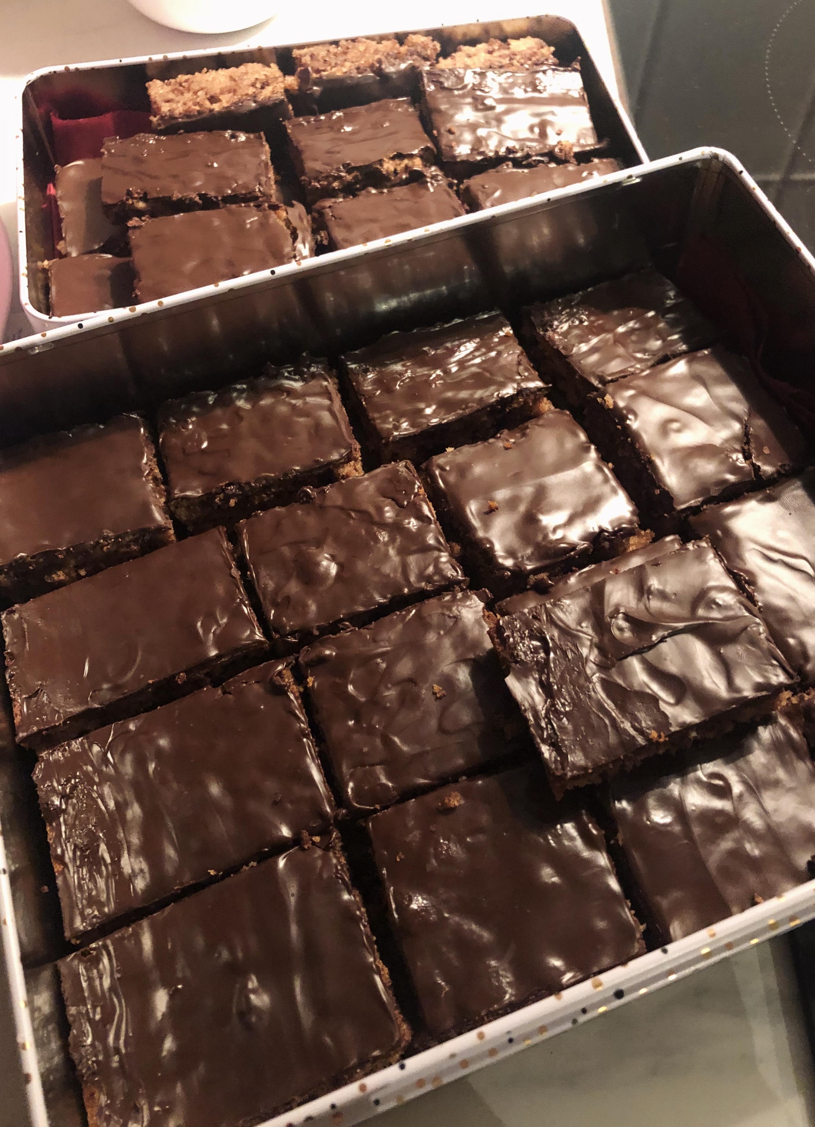 In der Weihnachtsbäckerei: Schokoladenbrot